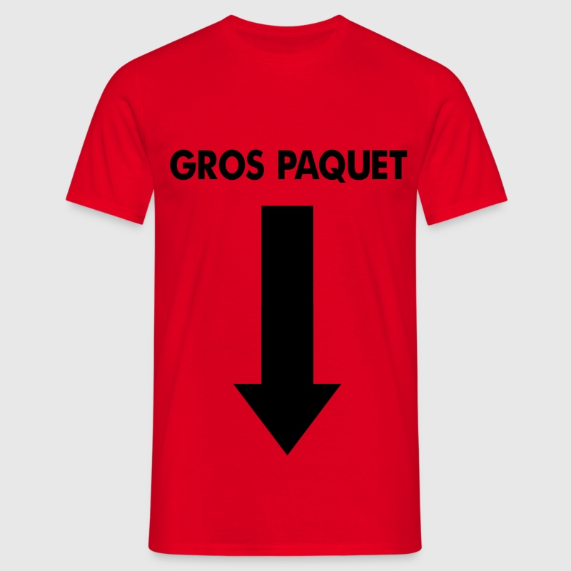 T-shirt Rouge Gros Paquet - T-shirt Homme