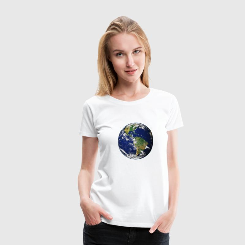 Planet Erde - Frauen Premium T-Shirt