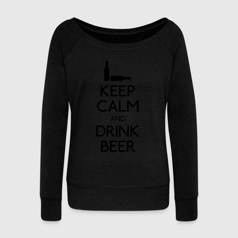 Keep Calm Drink Beer Sweat-shirts - Pull Femme col bateau de Bella