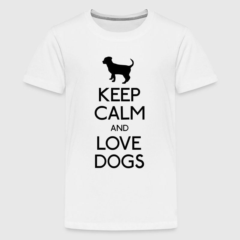 Keep Calm and love Dogs T-Shirts - Teenager Premium T-Shirt