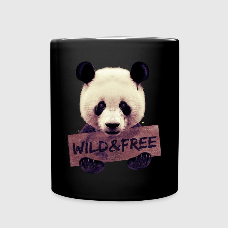 tasse wild and free panda bear spreadshirt. Black Bedroom Furniture Sets. Home Design Ideas