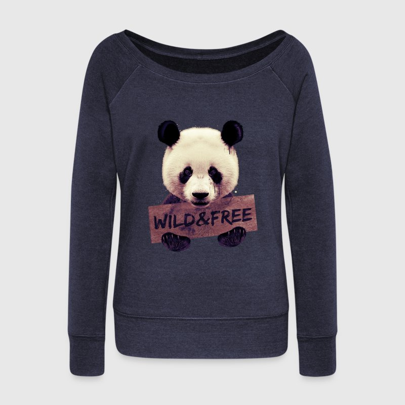 Wild and free Panda bear Sweat-shirts - Pull Femme col bateau de Bella