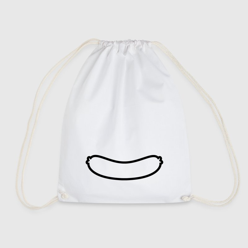 Sausage Outline Bags & Backpacks - Drawstring Bag