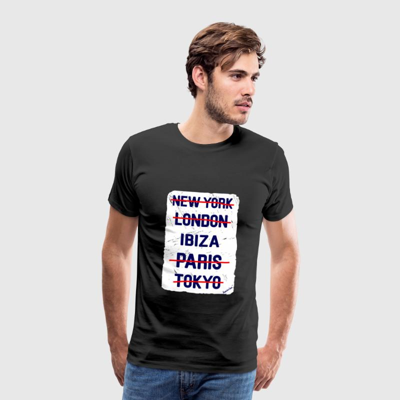 NY London Ibiza..., Francisco Evans ™ T-shirts - Mannen Premium T-shirt