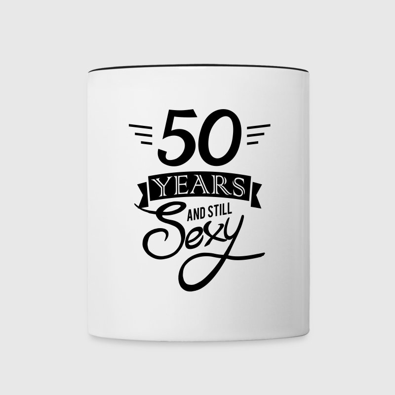 50 years and still sexy Bouteilles et Tasses - Tasse bicolore