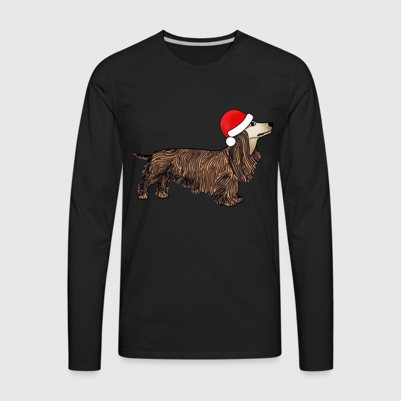 Christmas dachshund t-shirt for men - Men's Premium Longsleeve Shirt