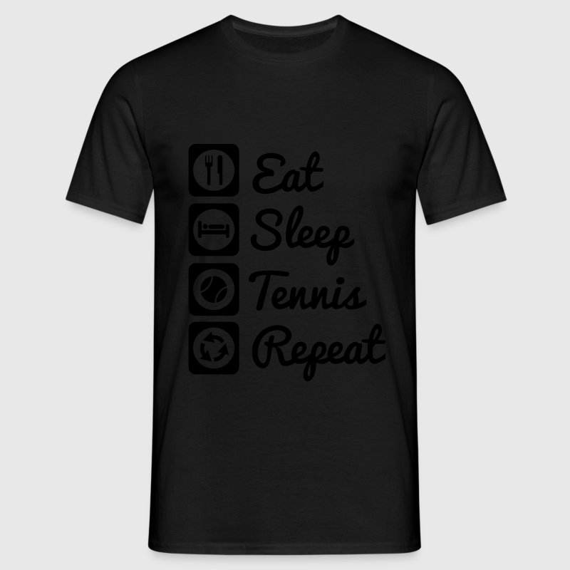 eat,sleep,tennis,repeat - Tennis t-shirt - Herre-T-shirt