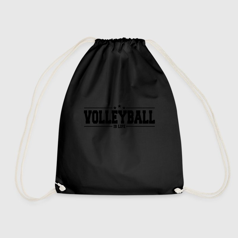 volleyball is life 1 Bags & Backpacks - Drawstring Bag