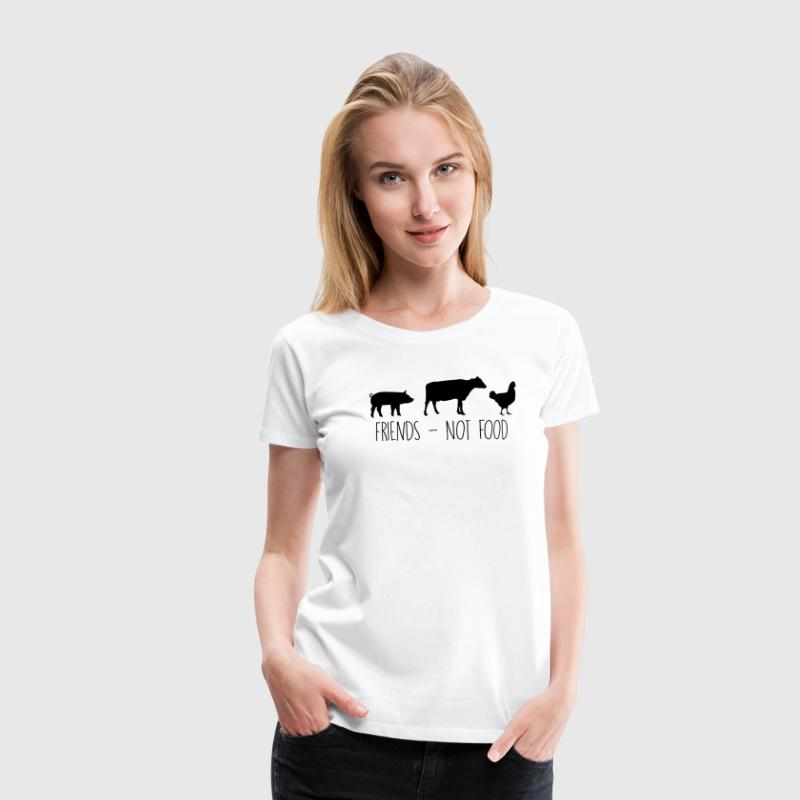 Friends - Not Food! Vegan / Vegetarier Shirt - Frauen Premium T-Shirt