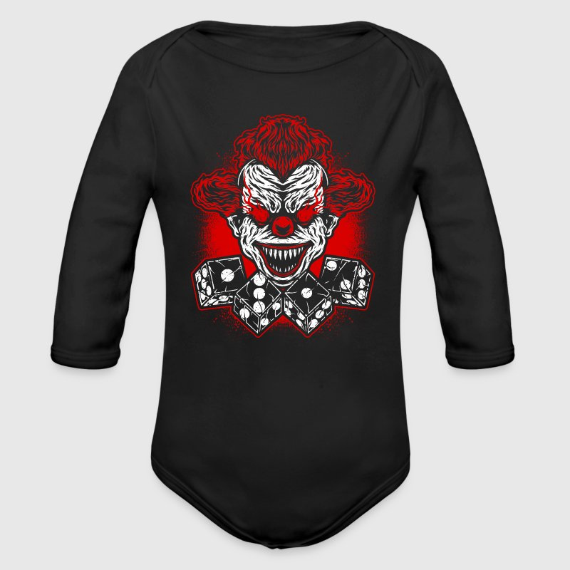 Fussball - Verein - Logo - Clown Baby Bodys - Baby Bio-Langarm-Body