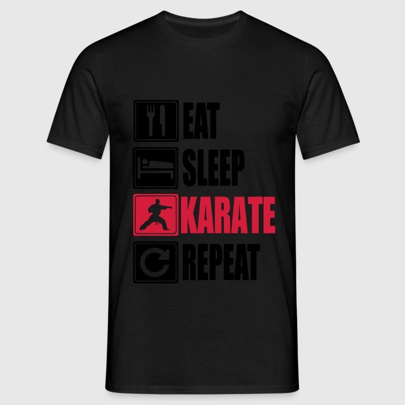 Eat Sleep Karate Repeat T-shirts - Mannen T-shirt
