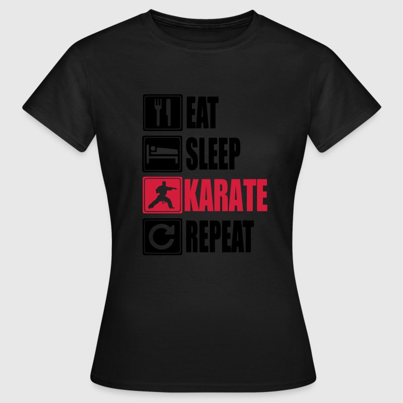 Eat Sleep Karate Repeat T-shirts - T-shirt dam