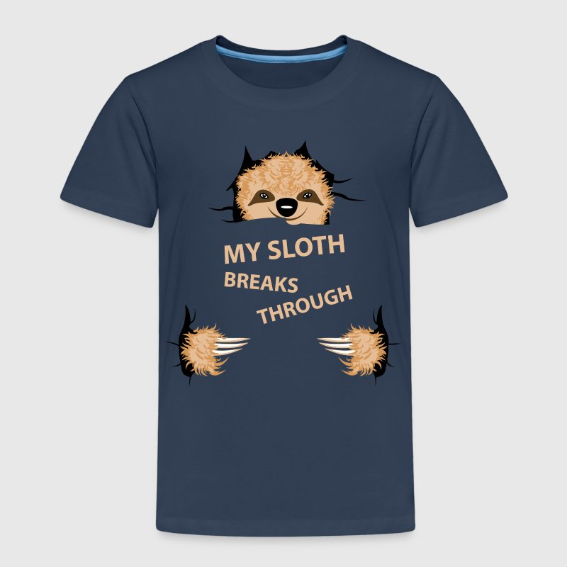 my sloth breaks trouth T-shirts - Premium-T-shirt barn