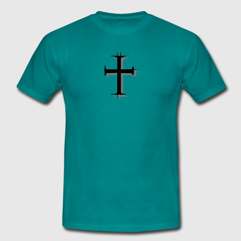Crosshatch cross christian design cool jesus chris T-Shirts - Men's T-Shirt