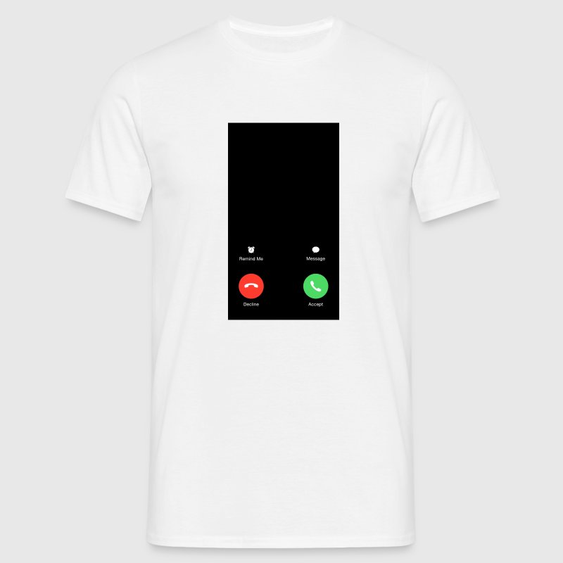 Iphone Anruf Screen - Männer T-Shirt