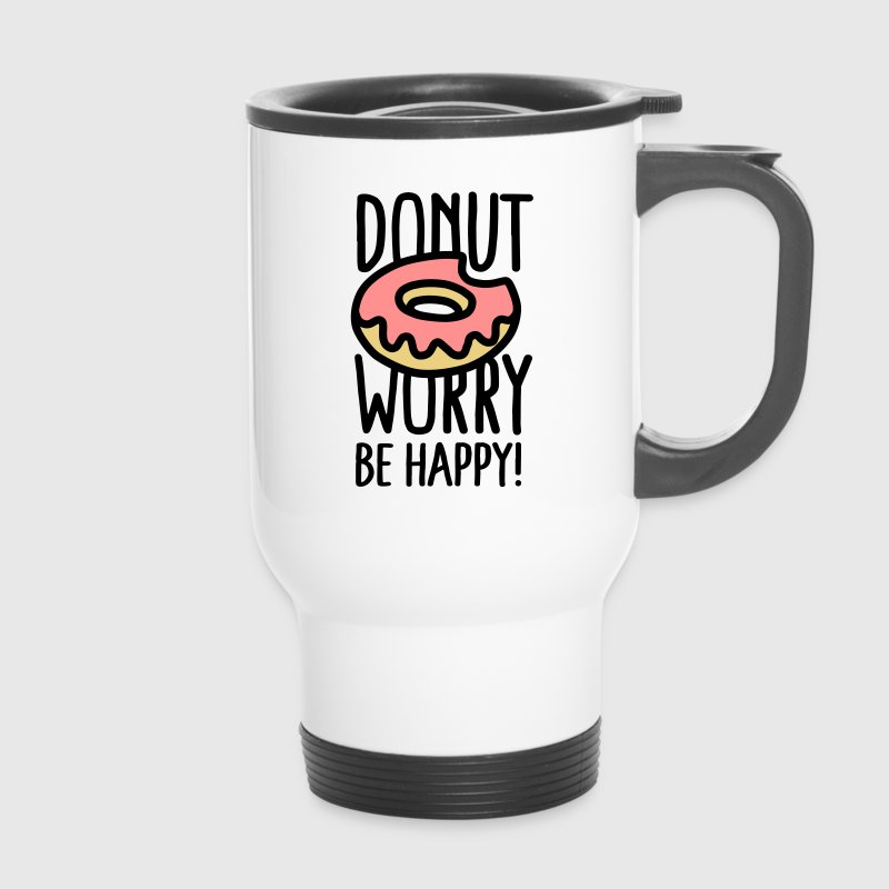 Donut worry, be happy! Mokken & toebehoor - Thermo mok