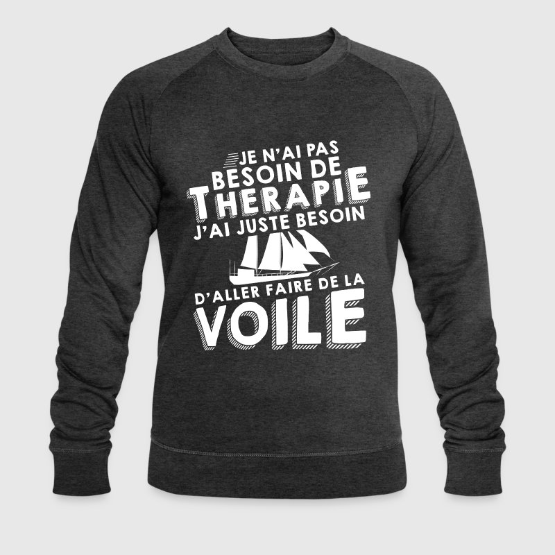 Thérapie - Faire De La Voile Sweat-shirts - Sweat-shirt bio Stanley & Stella Homme