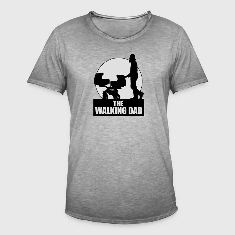 THE WALKING DAD - TWO - TWINNS T-Shirts - Männer Vintage T-Shirt