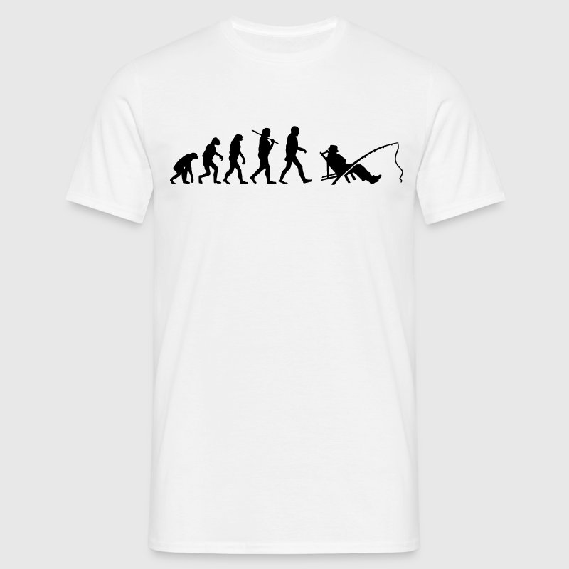 Evolution of angeln T-Shirts - Männer T-Shirt