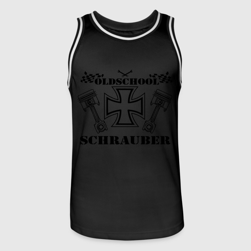 Schrauber oldschool m nner basketball trikot spreadshirt for Old school basketball t shirts