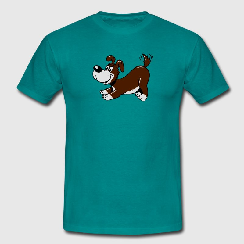Dog baby cute tail wagging T-Shirts - Men's T-Shirt