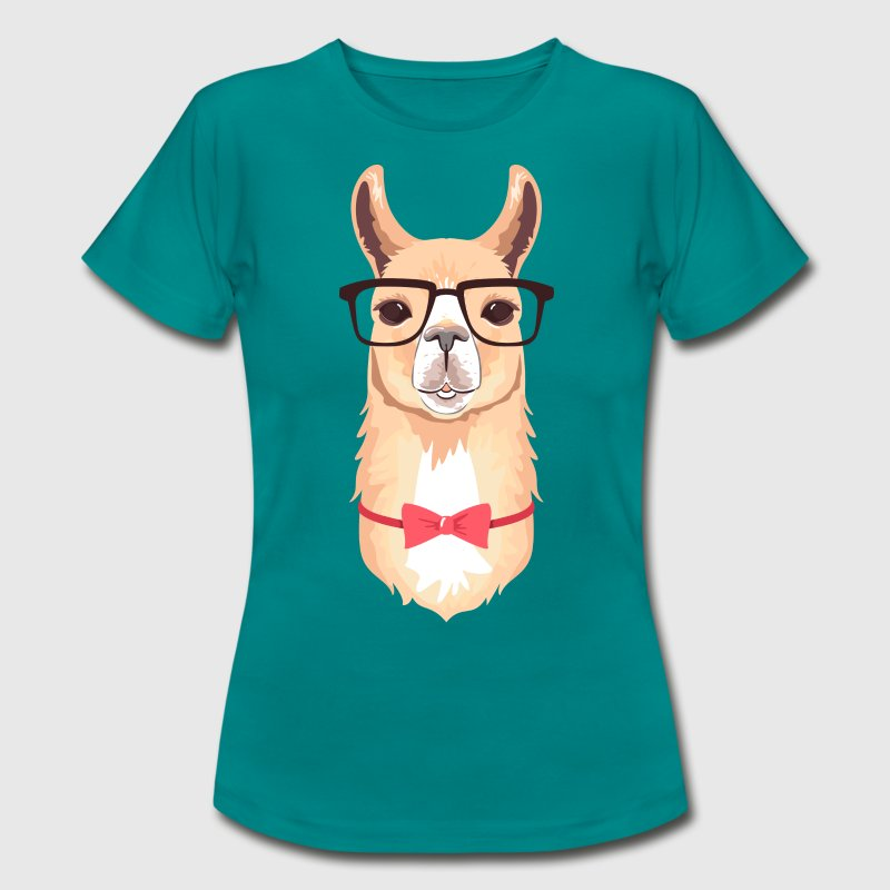 Funny Hipster Llama  | Bow Tie | Glasses  T-Shirts - Women's T-Shirt