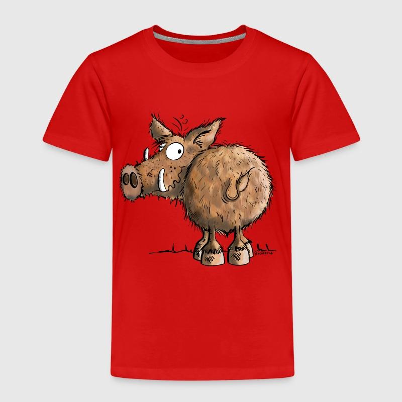 Favorito maglietta con Divertente Cinghiale | Spreadshirt YC11