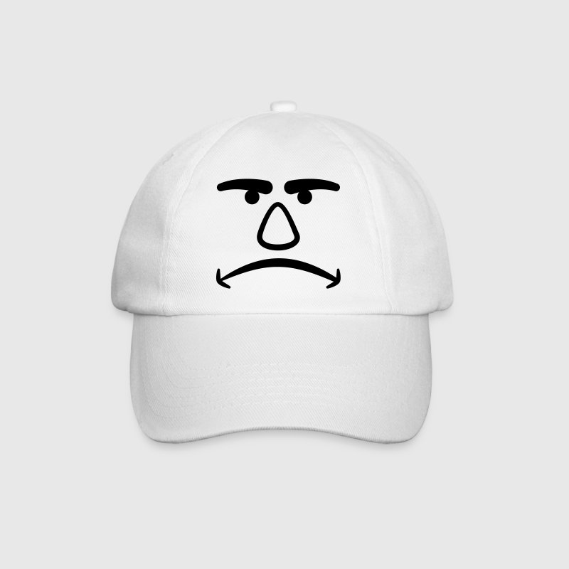 Angry Face Caps & Hats - Baseball Cap