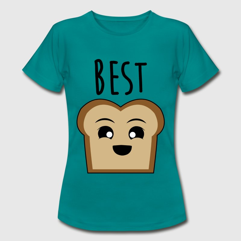 Best Friends // Partnershirt (Sea Blue) - Frauen T-Shirt