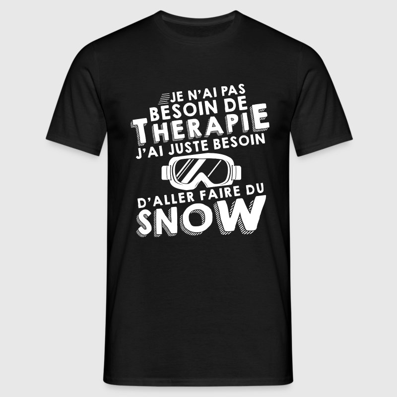 Thérapie snow Snowboard Tee shirts - T-shirt Homme
