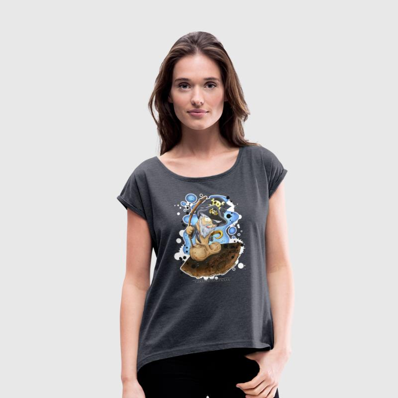 captain cock T-Shirts - Women's T-shirt with rolled up sleeves