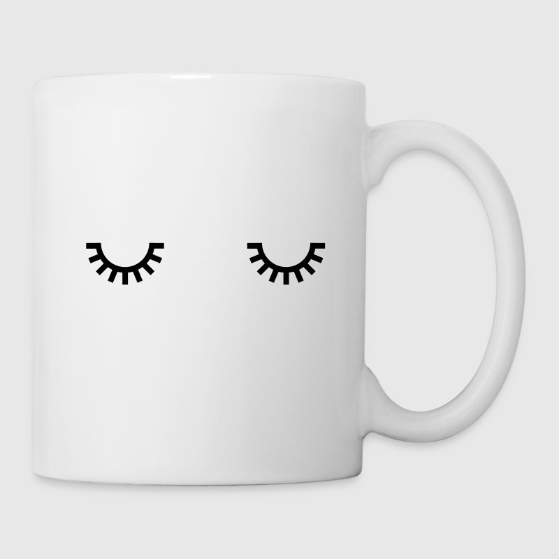 Sleepy eyes, monday morning, quotes, comics Mugs & Drinkware - Mug