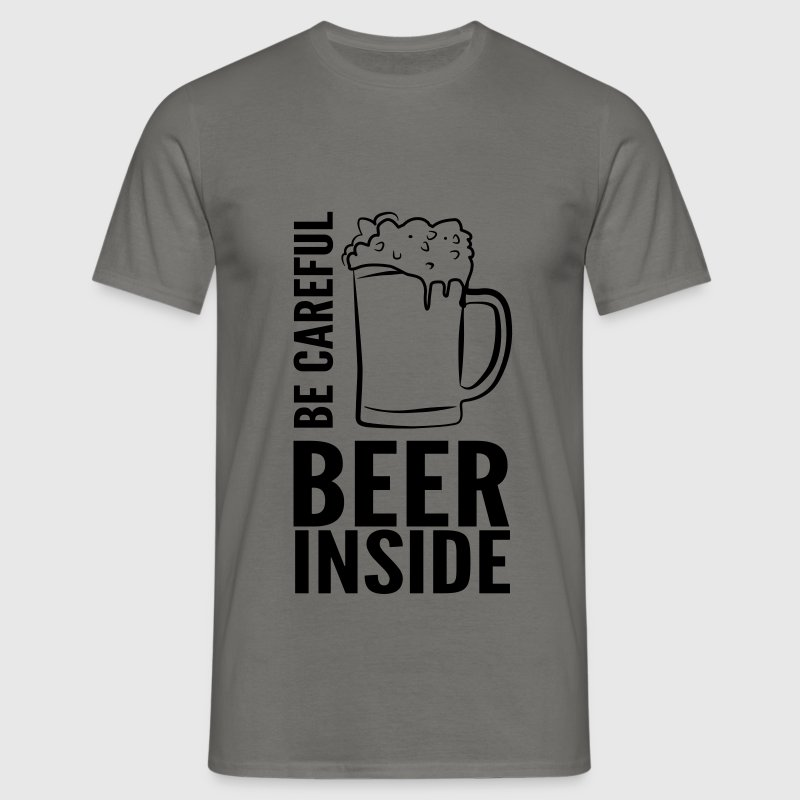 Tee-shirt homme Be Careful Beer inside - T-shirt Homme