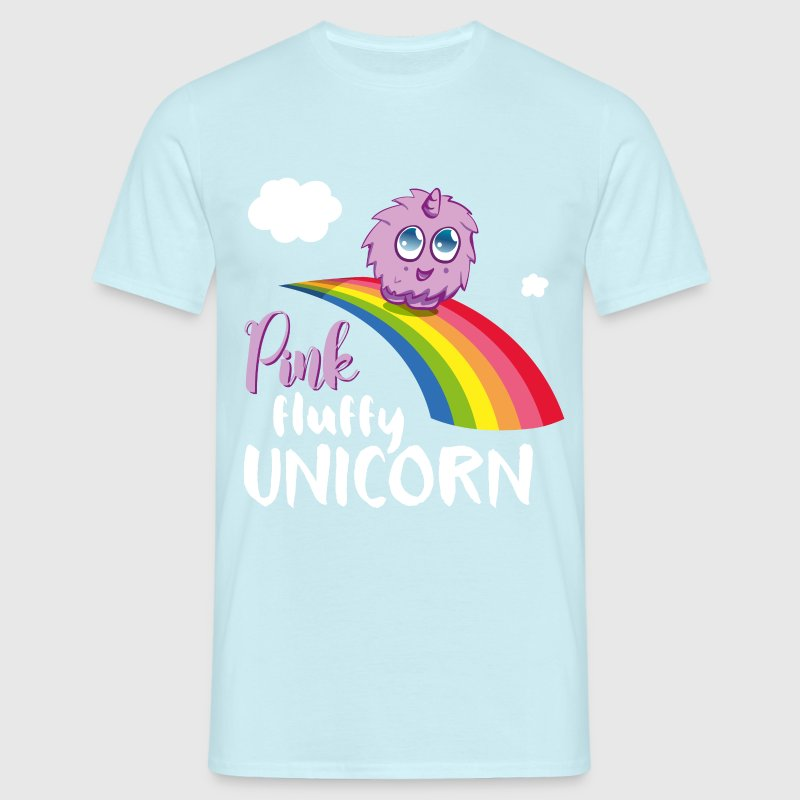 Pink fluffy Unicorn T-Shirts - Men's T-Shirt