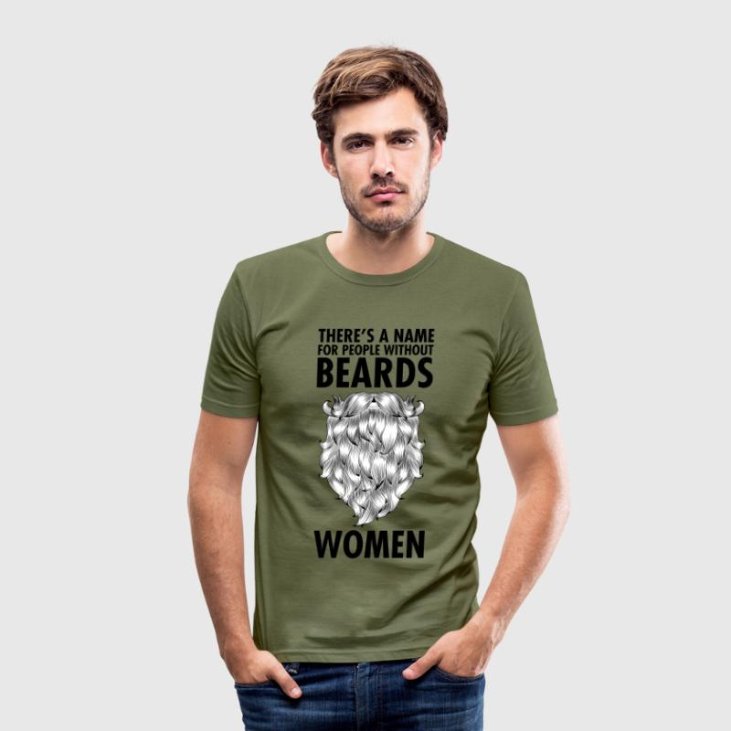 There's A Name For People Without Beards... T-shirts - Herre Slim Fit T-Shirt