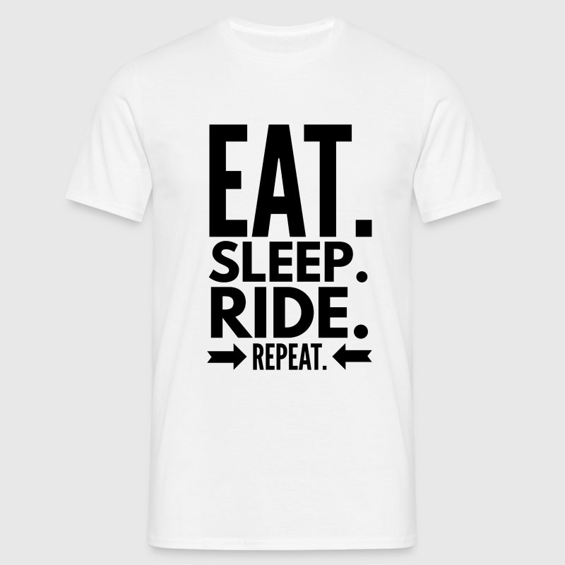 Eat Sleep Ride Repeat Tee shirts - T-shirt Homme