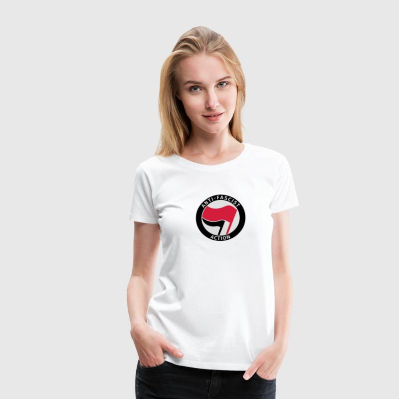 Anti-Fascist Action Tee shirts - T-shirt Premium Femme