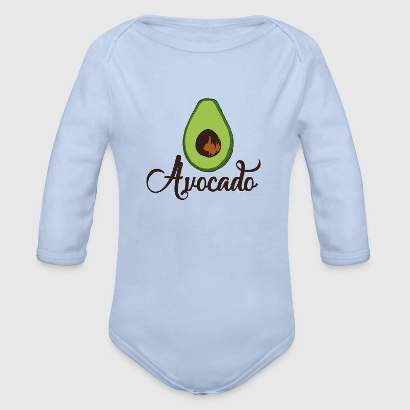 avocado love Baby Bodys - Baby Bio-Langarm-Body