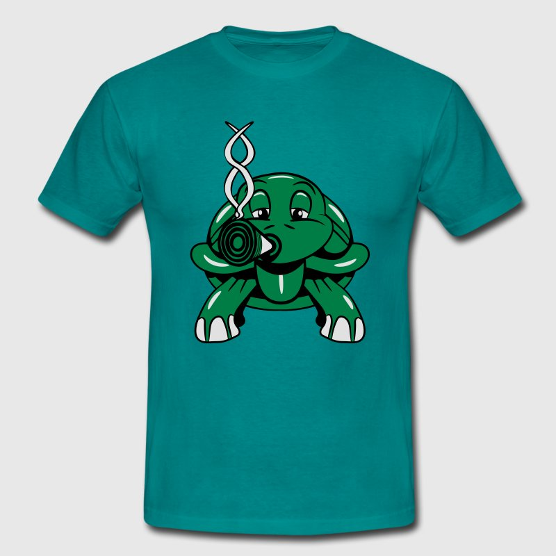 tortue weed joint drôle Tee shirts - T-shirt Homme