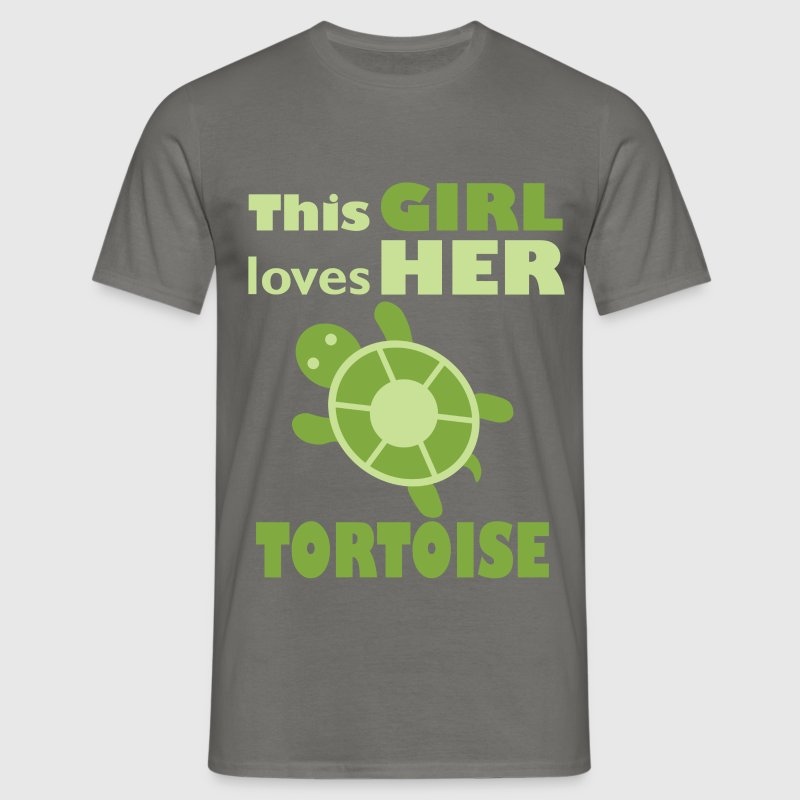 This girl loves her tortoise - Men's T-Shirt