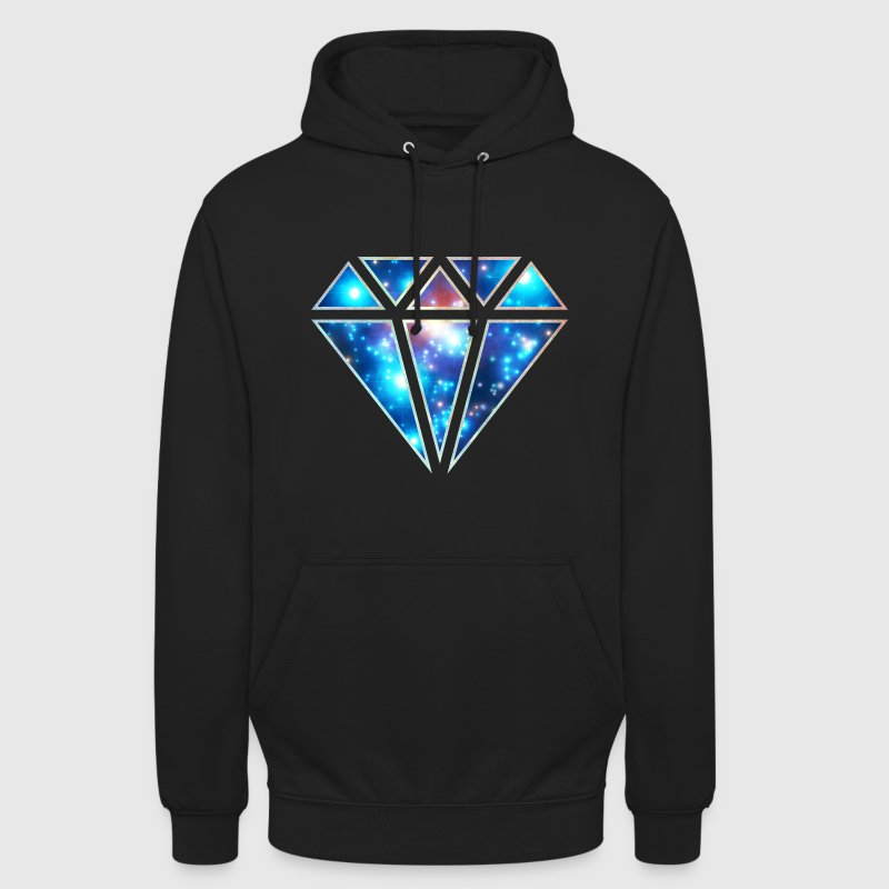 Diamond, galaxy style, triangle, space, symbol,  Hoodies & Sweatshirts - Unisex Hoodie