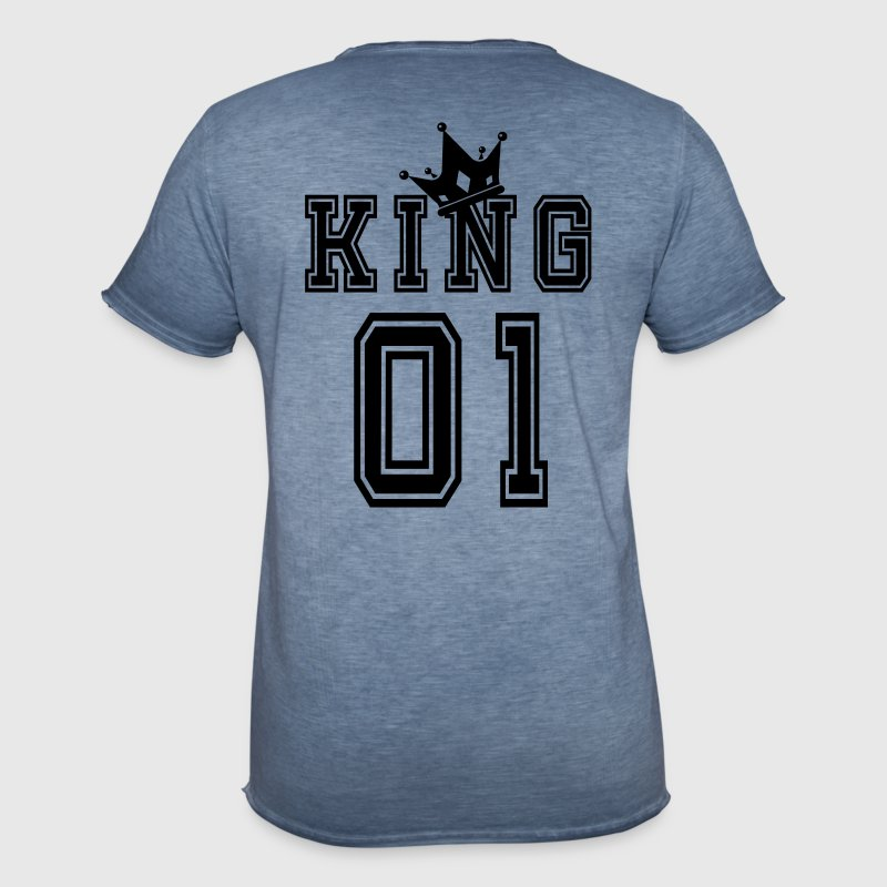 Valentine's Day Matching Couples King Jersey - Vintage-T-shirt herr