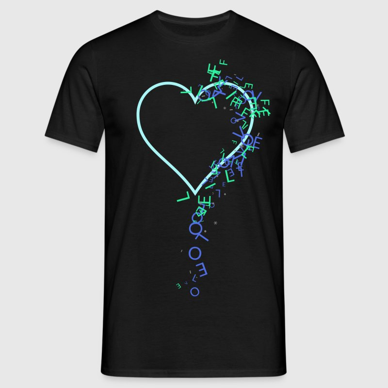 Love Life Heart Drop - Männer T-Shirt