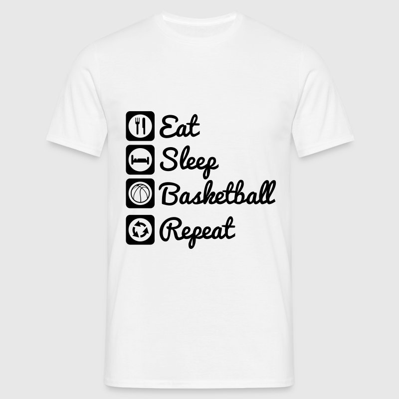 Eat sleep basketball,Basket Tee shirts - T-shirt Homme