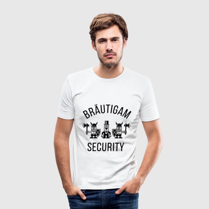 Bräutigam Security Wikinger (JGA / 1C) T-Shirts - Männer Slim Fit T-Shirt