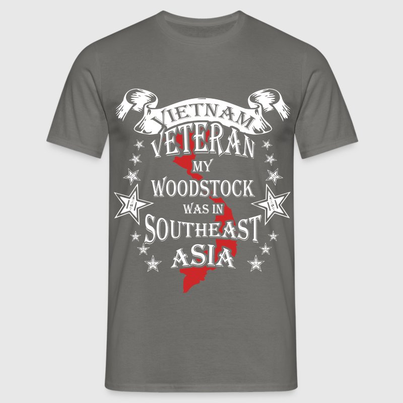 Vietnam veteran my woodstock was in southeast Asia - Men's T-Shirt