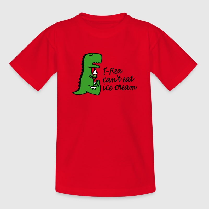 T-rex can't eat ice cream T-Shirts - Kinder T-Shirt
