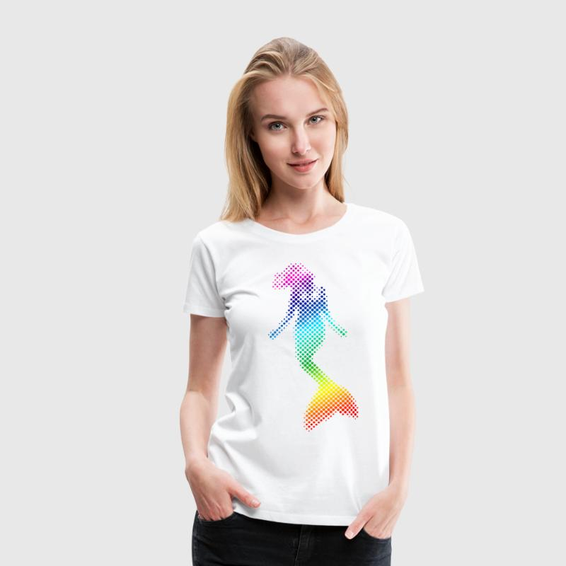 Rainbow mermaid T-Shirts - Women's Premium T-Shirt