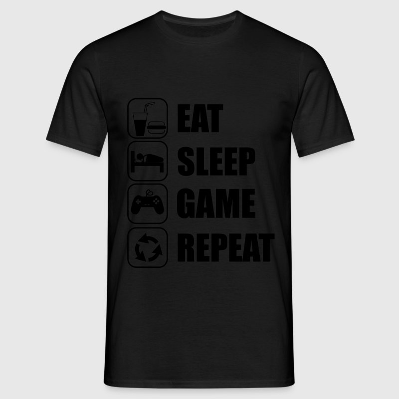 Eat,sleep,game,repeat Gamer Gaming Nerd Funny geek - Camiseta hombre