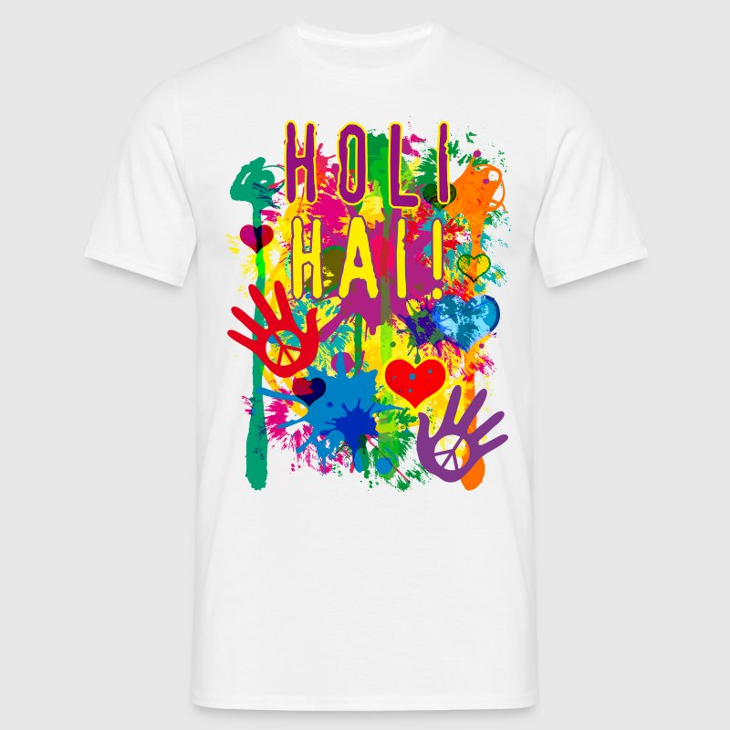 HOLI HAI Happiness Festival Party Luck T-Shirt - Männer T-Shirt
